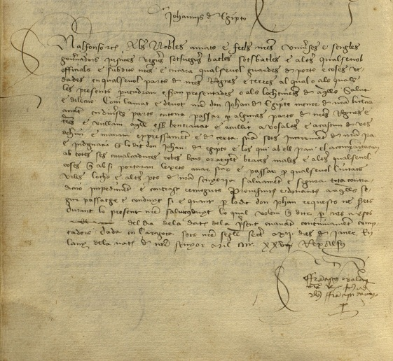 primera carta gitanos